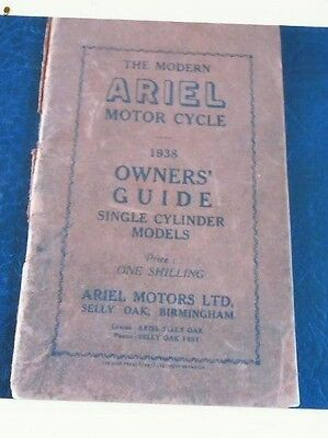 Ariel Motor Cycle 1938 Owners Guide