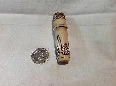 Needle Case With Thimble Top