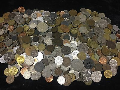 2.6KG Coin collection ,unsorted GB&World coins See Pictures