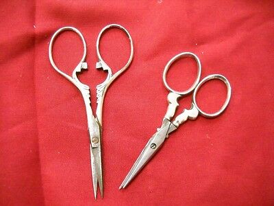 Two Pairs Antique Sewing Scissors