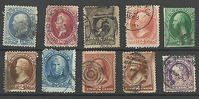 United States 19th Century Used Postage Stamps