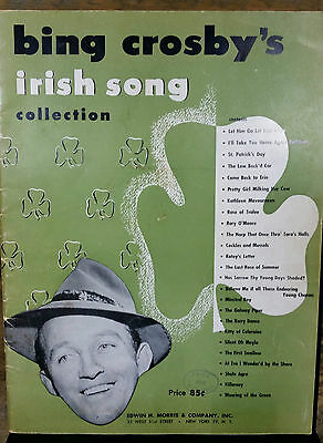 VTG Bing Crosby's Irish Song Collection Music Song Book 1949 25 Songs