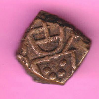French India-(Dutch Occupation-1693/1698)-Cache-Rarest Copper Coin-71