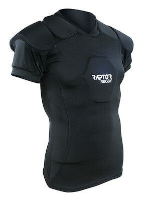 """Raptor Rugby Body Armour/Shoulder/Sternum/Neck Pads/Protection XL: 46/48"""" chest"""