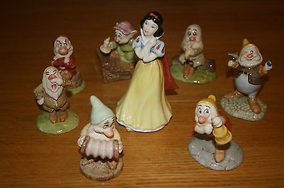 Classic Snow White & Seven Dwarfs Figurines by Royal Doulton