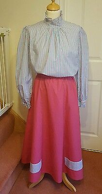 Ladies Size 16 2 piece Victorian Outfit Blouse and Skirt