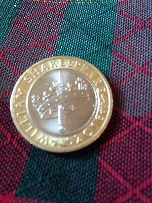 2016 Limited Edition William Shakespeare Two 2 Pound coin