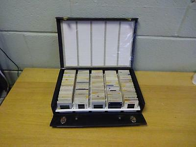 vintage Film Photography slide storage Briefcase style box with 200 slides