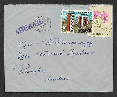 (111cents) Singapore 1963 Cover to India
