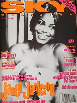 Sky magazine. June 1993. Janet Jackson cover + 5 pages. Luke Perry, Demi Moore.