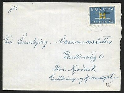 (111cents) Iceland 7KR CEPT EUROPA Cover
