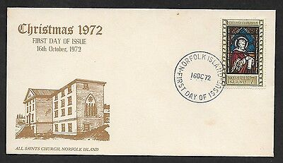 (111cents) NorFolk Island 1972 Christmas First Day Cover