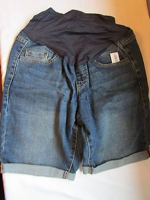 NWT Old Navy Maternity Denim Rolled Cuff Shorts size 4