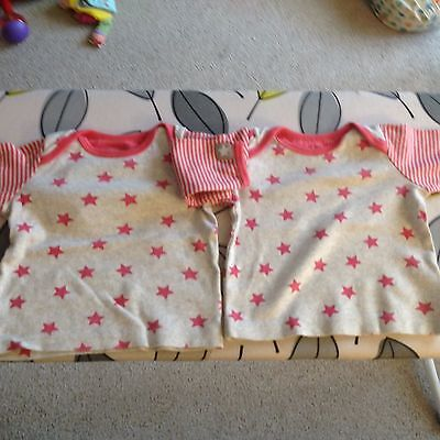 Twin Baby Girl Tops Mothercare 3-6 Months