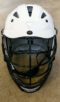 Cascade Lacrosse Helmet, White Adult One size fits most
