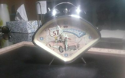 warner brothers wind up alarm clock vintage RARE BUGGS BUNNY ROUTE 57