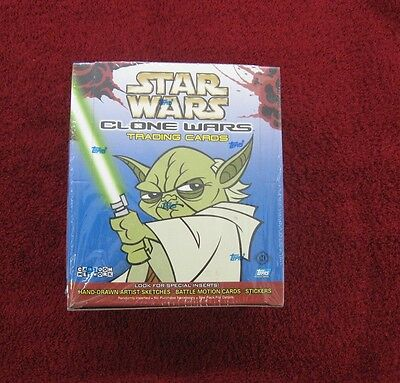2004 Topps Star Wars CLONE WARS Sealed Hobby Box