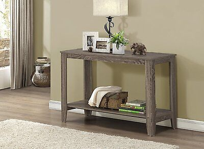 RUSTIC CONSOLE TABLE Sofa Wood Storage Accent Entryway Reclaimed-Look  Hallway