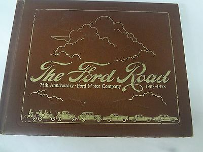Vintage 1903-1978 Ford History Book Coffee Table Book Collectible  M-547