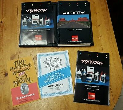 1993 GMC Typhoon Owners Manual Package with pamphlets Original 93