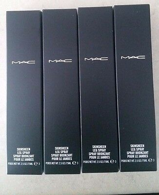 Set Of Four Mac Skinsheen Leg Spray - Dark -  Bnib- Low Shipping To Usa!!