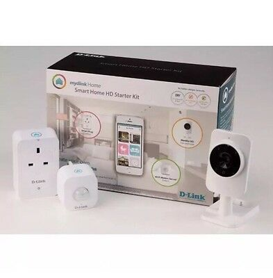 D-LINK mydlink Home SMART Home HD Starter Kit App compatible with iOS & Android