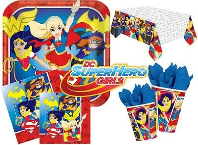 Dc Heroes Girls Super Hero Party Supplies Complete Kits For 8 16 24 32 40 Guests