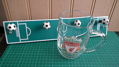 Mixed Lot of Football Merchandise - Beer Tankard / Peg Hooks on Board - VGC