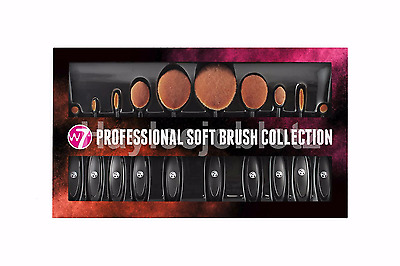 W7 Professional Soft Toothbrush Oval Makeup Foundation Powder Contour Brush Set