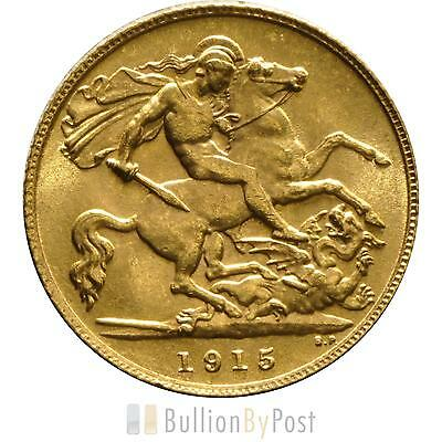 1915 Gold Half Sovereign - King George V - London