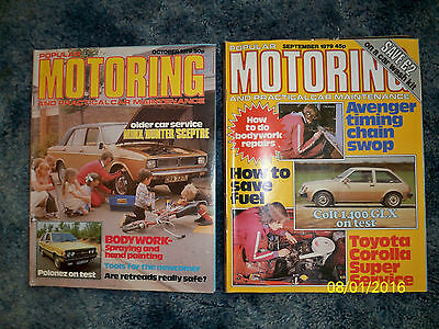 Collectable/Vintage POPULAR MOTORING  Magazines x 2  -  1979