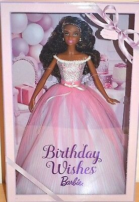 BARBIE BIRTHDAY WISHES 2017 AA african NRFB - model muse doll collection Mattel