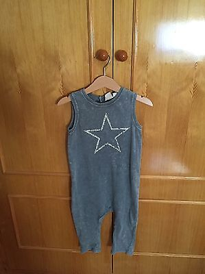 Zara Baby Boy Dungarees All In One Romper 12-18
