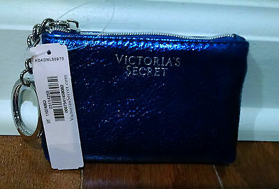 Victoria's Secret NWT Beauty Rush Card Pouch in Blue---Retail $8, Sold Out