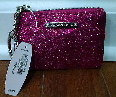Victoria's Secret NWT Pink Glitter Beauty Rush Card Pouch---Ret. $8, Sold Out