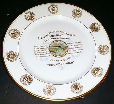 Breakfast To The Governors ~The Onondaga Hotel~ 1911 Service Plate Very Rare