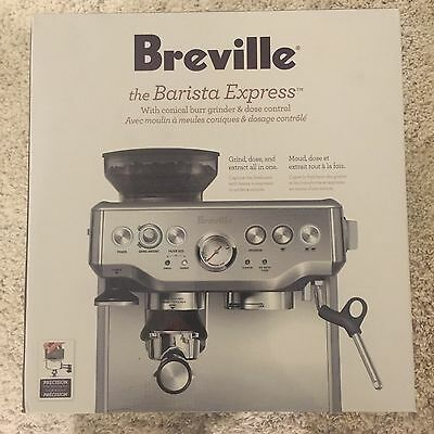 Breville BES870XL Barista Express Espresso Machine BRAND NEW!!