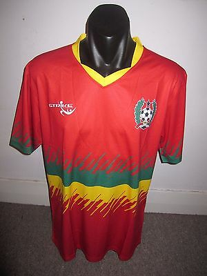 Guinea-Bissau Strike National Team Shirt Jersey Football Large RARE