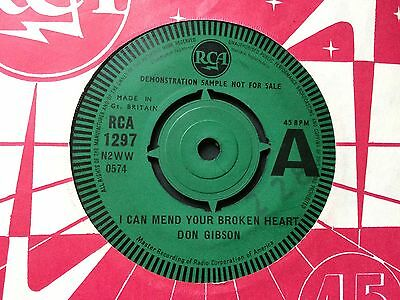 "DON GIBSON: ""I CAN MEND YOUR BROKEN HEART"" DJ DEMO COPY on UK RCA 1297"