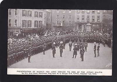 Postcard - Jersey - Militia - Presentation of Medals 1905 - Very Good Unposted