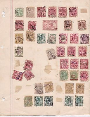 Messy Old Page Of Transvaal Stamps   . Ref R 1960