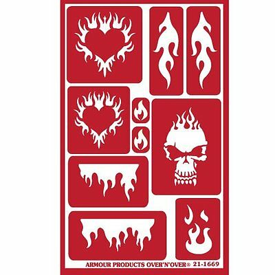 Armour Reusable Over n Over Glass Etching Stencil - ONO Flames