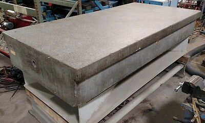 """48"""" x 96"""" x 14"""" Granite Inspection Plate, Grade A, with Fabricated Stand"""