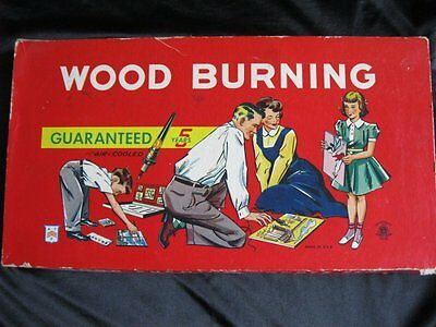 Vintage Kids A.T.F. American Toy Wood Burning Set Kit Works Complete with Box