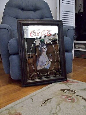 RARE -1973 - Vintage -Coca Cola Mirror -23in high x 17in Wide - Date on back