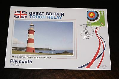 2012 London Olympics - Great Britain Torch Relay Fdc - Plymouth Day 1