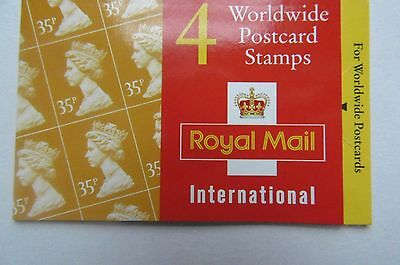 G B, QE II Booklet Worldwide Postcard Stamps  37p MNH.