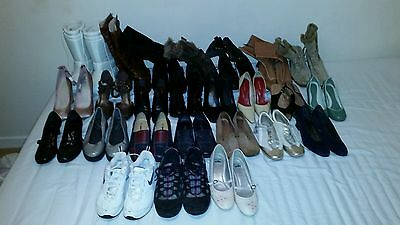 Carboot Joblot 25 Pairs Of Ladies Shoes, Boots & Trainers Collection Only Gu14