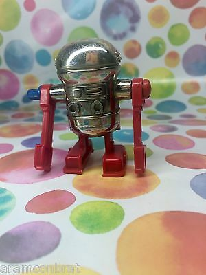 1979 Vintage Tomy Wind Up Robot Toy in Red & Silver