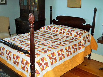 Never Used. PA Mennonite, Pinwheel Quilt.  Full Provenance & Picture of Quilter
